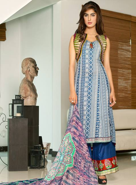 Kalyan Limited Eid Collection 2013 By Z.S Textile For Women 001