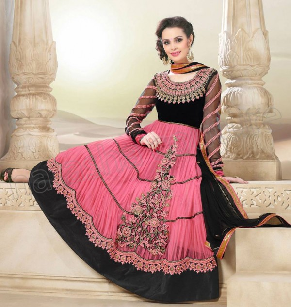 New Anarkali Frock Eid Collection 2013 For Women Natasha Couture 003