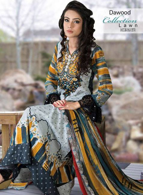 Printed Lawn Collection 2013 by Dawood Textile For Women 004