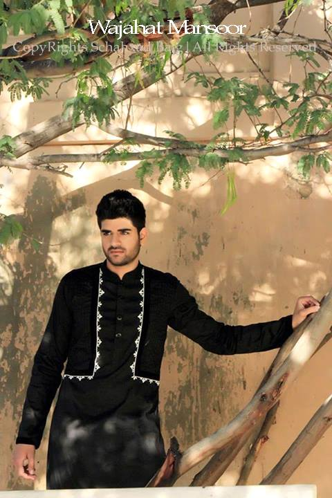 Wajahat Mansoor Latest kurta shalwar Eid Dress collection 2013 For Man