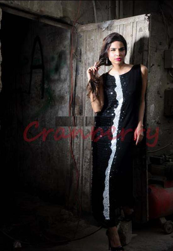 Cranberry Casual Wear Dresses Collection Latest 2013 005