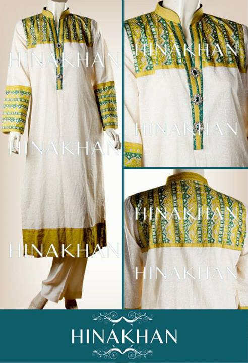 Hina Khan Midsummer Dresses Latest Collection 2013 For Women 001