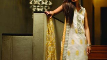 Khaadi Latest Silk Cotton Dresses 2013 for Women 001