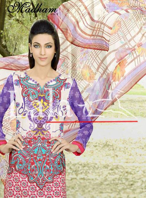 Madham vol 2 Lawn Collection 2013 By Lala Textiles For Women 004