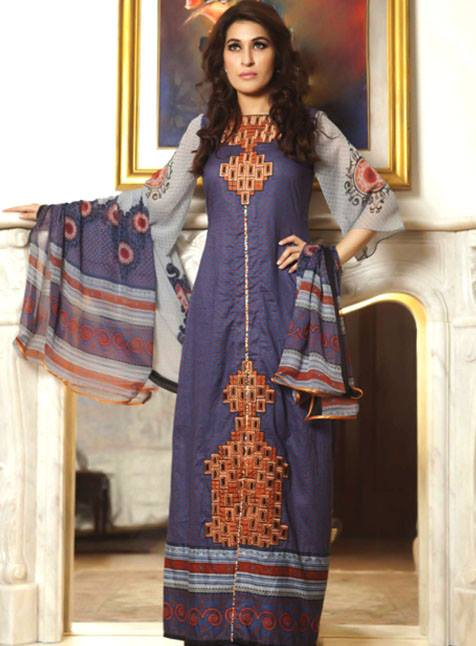 Monsoon Festivana Dresses Vol 2 2013 by Al Zohaib Textile 006