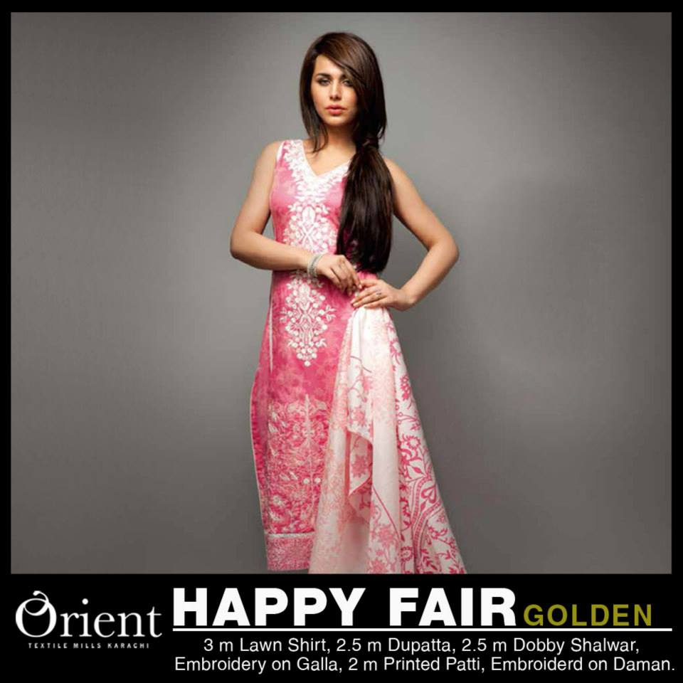 Orient textile Party Wear Mid Summer New Collection 2013-2014 (8)