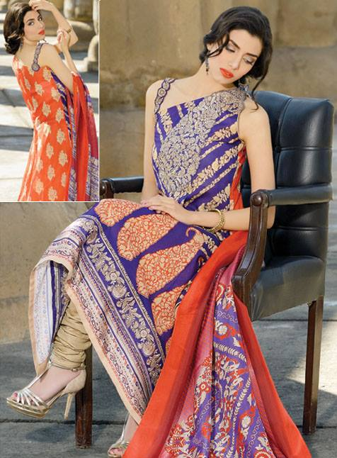 Umar Sayeed Dresses Collection 2013 by Al Karam 001