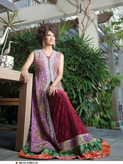 Ahsan Hussain Stylish Formal and Bridal Wear 2013 001