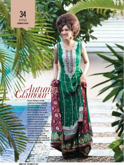 Ahsan Hussain Stylish Formal and Bridal Wear 2013 004