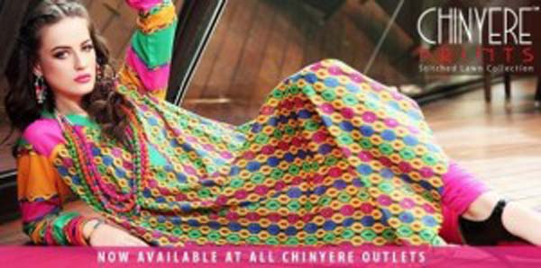 Chinyere Stitched Lawn Collection 2013 For Women & Girls 006