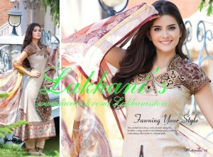 Lakhani Stylish Colorful Dress Collection 2013 for Women 002