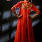 Mid Summer Stylish Party Wear Frock Collection by Zunaira 004