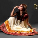 Mid Summer Stylish Party Wear Frock Collection by Zunaira 005