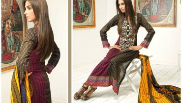 Pehnawa Mid-Summer Fall Dresses 2013 By ZS Textiles 001