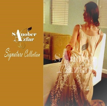 Sanober Azfar Stylish Party Wear Dresses 2013 001