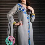 Winter Fall Party Wear Dresses Collection 2013 by Shades By Afshan 001