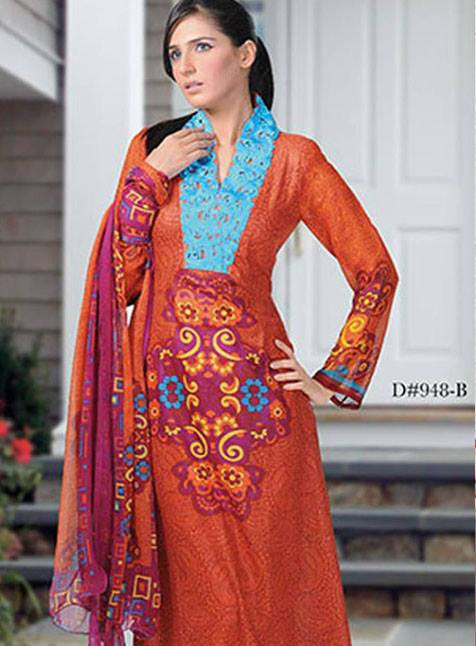 Aalishan Chiffon Lawn Collection 2013 by Dawood Textiles 003
