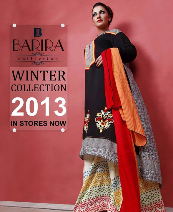 Barira Stylish Winter Wear Collection 2013 001
