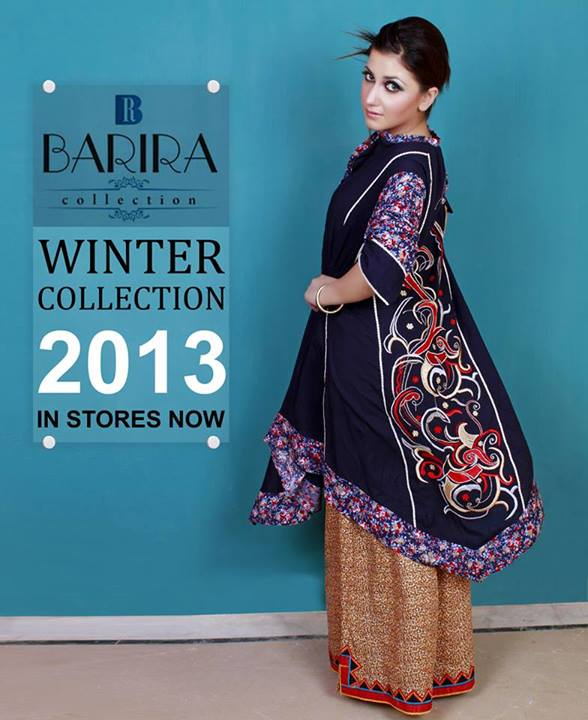 Barira Stylish Winter Wear Latest Dresses Collection 2013