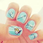Beautiful Nail Art Designs 2013 for Collage Girls 002