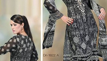 Dawood Hajiba Chiffon Latest Lawn Collection 2013 001