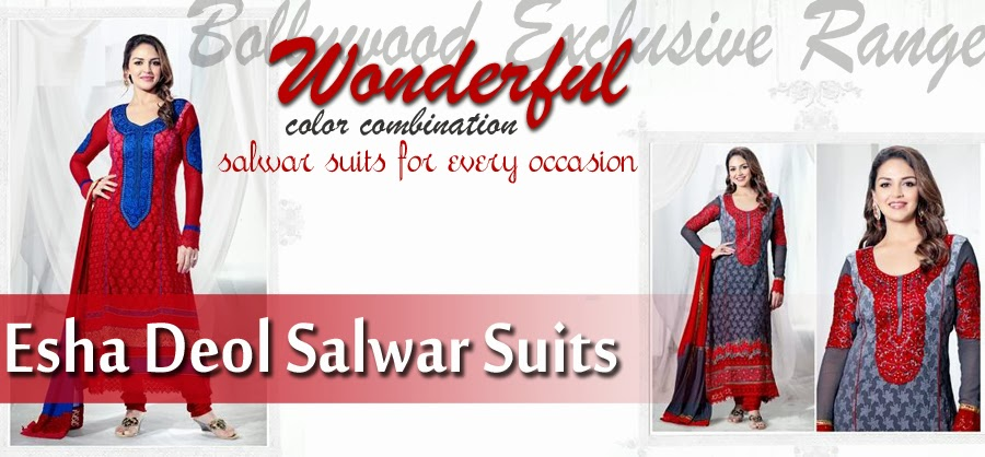 Esha Deol Salwar Suits Wonderful Color Combination 2013