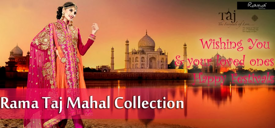 Indian Floor Length Suits By Rama Taj Mahal Collection 2013