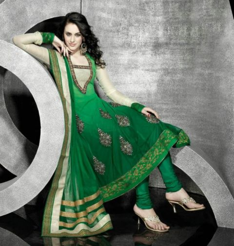 Latest Anarkali Salwar Kameez Natasha Couture Lustrous & Frocks Collection 2013 4