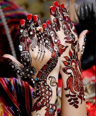 Latest Chand Raat Beautiful Hand Mehndi Designs 2013-2014 For Women (5)