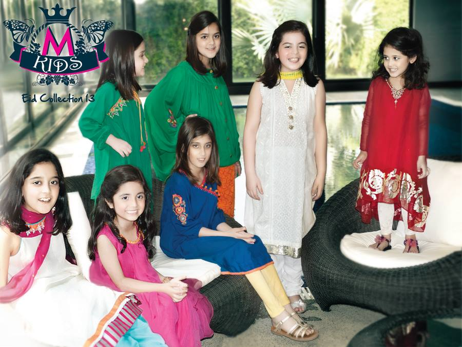 Maria B Party Wear Latest Dress Collection 2013 For Kids 001