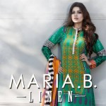Maria.B Winter Linen Dresses Collection 2013 For Women 002