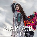 Maria.B Winter Linen Dresses Collection 2013 For Women 003