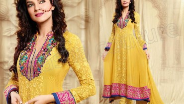 Natasha Couture Anarkali Latest Dresses Collection 2013 001