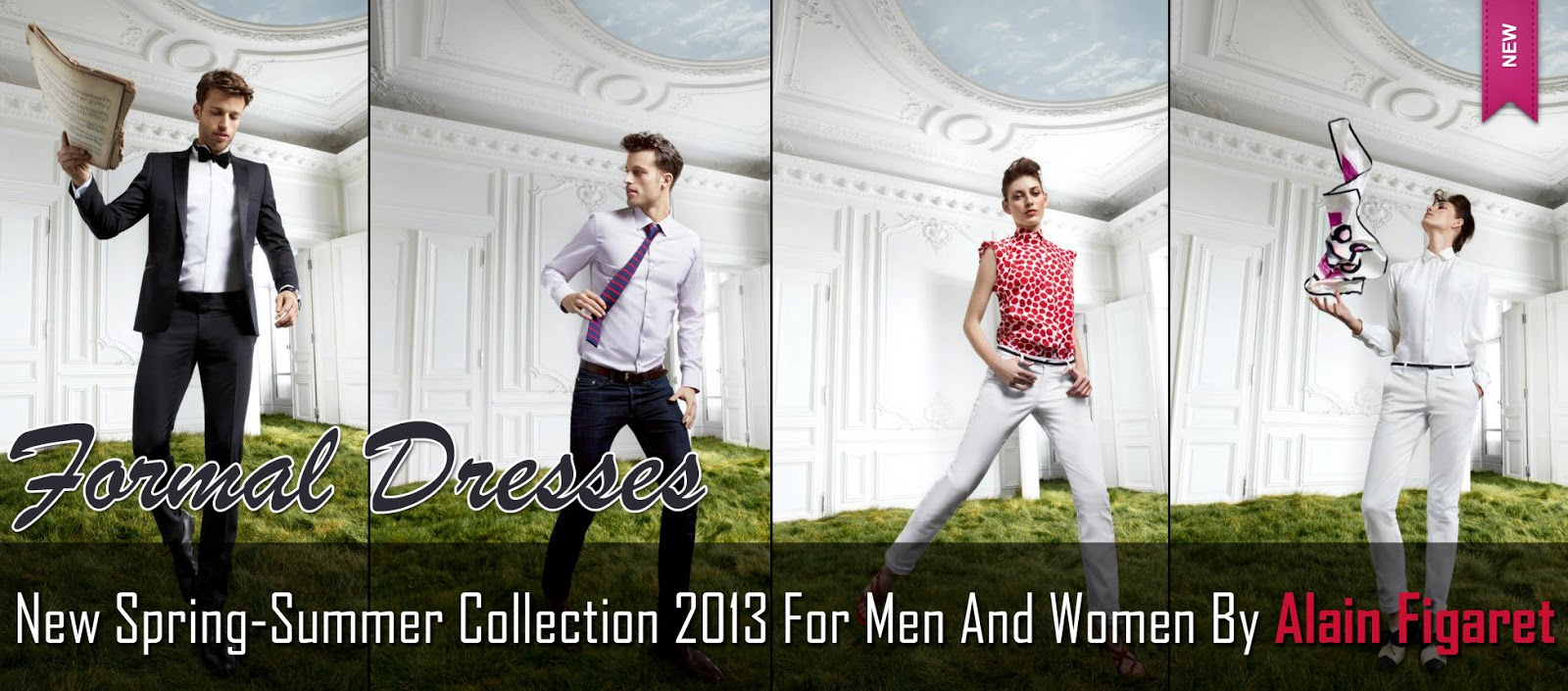 New Spring Summer Collection 2013 For Men And Women By Alain Figaret