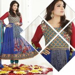 Raveena Tandon In Natasha Couture Anarkali Suits Collection 2013 009