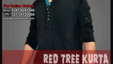 Red Tree Elegant Casual kurta Latest Collection 2013 For Men 001