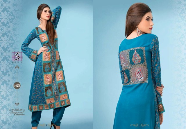 Shaista Cloths Stylish Winter Dresses Collection 2013-14 5