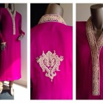 Zaheer Abbas Women Winter Long Party Outfits Collection 2013 002