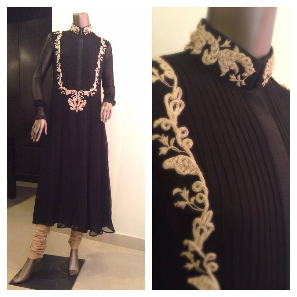Zaheer Abbas Women Winter Long Party Outfits Collection 2013 004