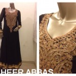 Zaheer Abbas Women Winter Long Party Outfits Collection 2013 006