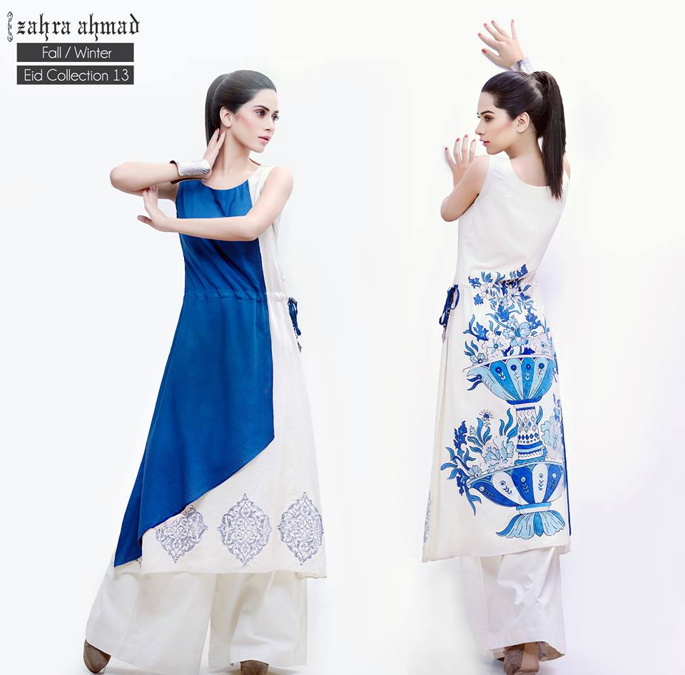 Zahra Ahmad Fall Latest Winter Exclusive Eid Collection 2013 004