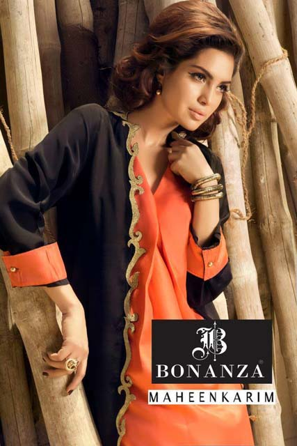 Bonanza Maheen Karim Winter Dresses Collection 2013-14