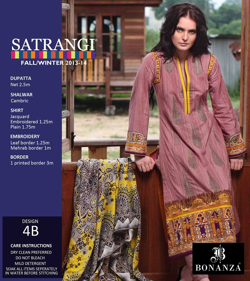 Bonanza Satrangi Fall Winter Collection 2013-14 for Women