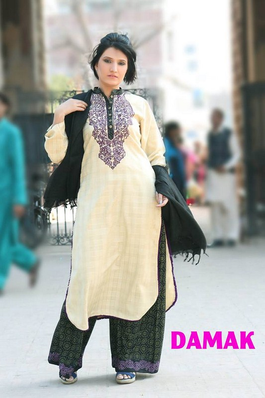 Damak Latest Winter Dress New Collection 2013-14 For Women (1)