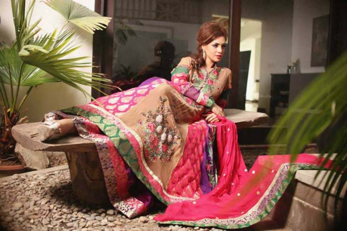 Designer Ahmad Bilal New Bridal Dresses 2013-14 for Ladies