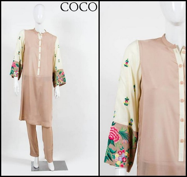 Embroidered Winter Pakistani Fashion Dresses 2013 for Women by Coco 001