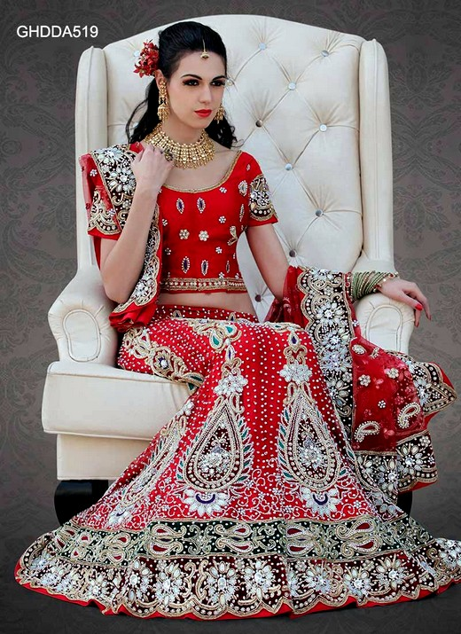Latest Indian Designer Bridal Lehenga Collection 2013 For ladies