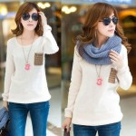 Latest Neck Loose Knitted Jumper Sweater Long Sleeve Collection for Girls 2013-2014