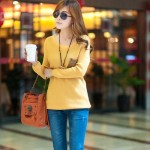 Latest Neck Loose Knitted Jumper Sweater Long Sleeve Collection for Girls 2013-2014 5