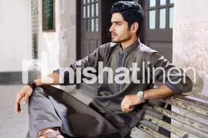 Naqsh by Nishat Linen Men Wear Kurta Collection 2013 001